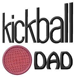 Kickball Dad embroidery design