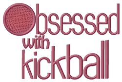 Kickball Obsessed embroidery design