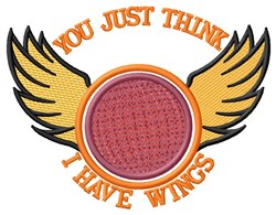 I Have Wings embroidery design