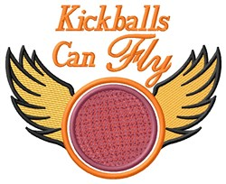 Fly Kickball embroidery design