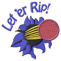 Let er Rip embroidery design