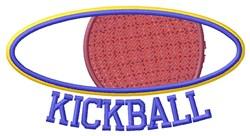 Oval Kickball embroidery design