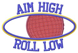 Aim High embroidery design