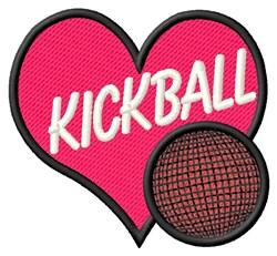 Kickball Heart embroidery design