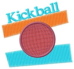 Kickball Stripes embroidery design