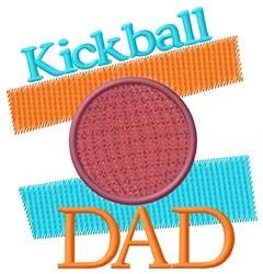 Kickball Dad embroidery design