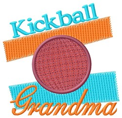 Kickball Grandma embroidery design