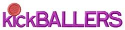 Kickballers Ball embroidery design