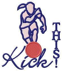 Kick This embroidery design