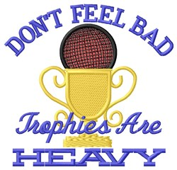 Heavy Trophy embroidery design