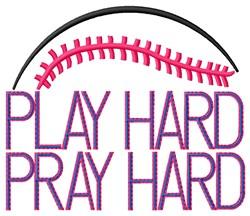 Baseball Play Hard embroidery design
