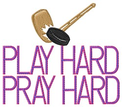 Play Hard Hockey embroidery design