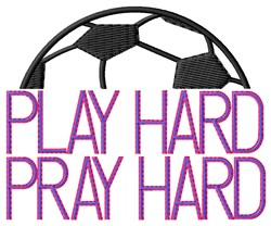 Play Hard Soccer embroidery design