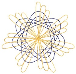 Spirograph Flower embroidery design