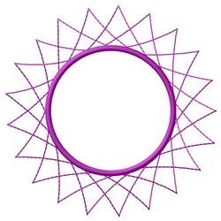Spirograph Sun embroidery design