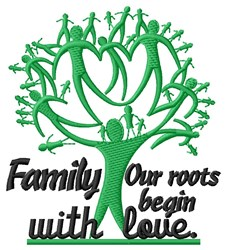 Family Roots embroidery design