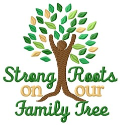 Strong Roots embroidery design