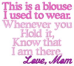 Blouse - Mom embroidery design