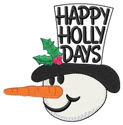 Merry Xmas Snowman embroidery design