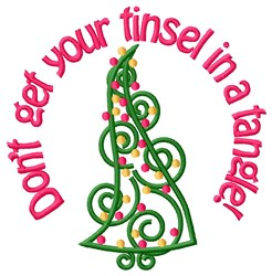 Merry Xmas Tree embroidery design