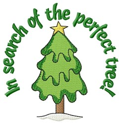 The Perfect Xmas Tree embroidery design