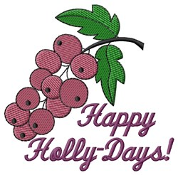 Holly-Days embroidery design