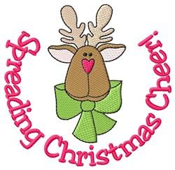 Reindeer Christmas Cheer embroidery design