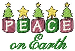 Peace On Earth Xmas embroidery design