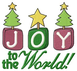 Joy To The World! embroidery design