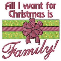 Christmas Is About Family embroidery design