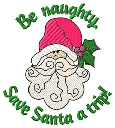 Be Naughty embroidery design