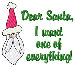 Santa Delivers embroidery design