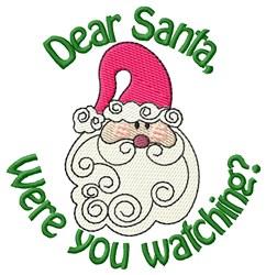 Santas Making A List embroidery design