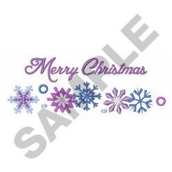MERRY CHRISTMAS BORDER embroidery design