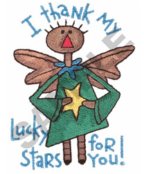 LUCKY STAR embroidery design
