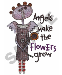 ANGELS FLOWERS embroidery design
