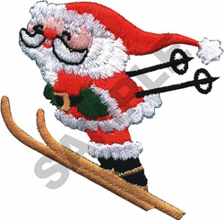 SKIING SANTA embroidery design