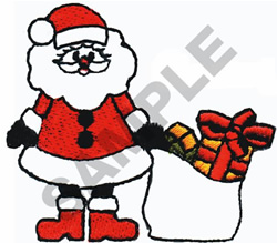 SANTA WITH PRESENTS embroidery design