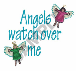 ANGELS WATCH OVER ME embroidery design