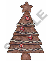 GINGERBREAD CHRISTMAS TREE embroidery design