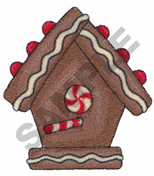 GINGERBREAD BIRDHOUSE embroidery design