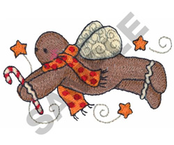 GINGERBREAD ANGEL embroidery design