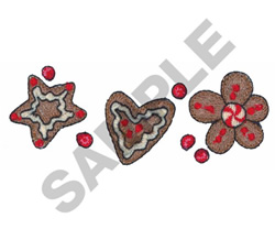 GINGERBREAD COOKIES embroidery design