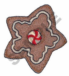 GINGERBREAD STAR COOKIE embroidery design