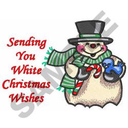 WHITE CHRISTMAS WISHES embroidery design