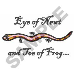 EYE OF NEWT embroidery design