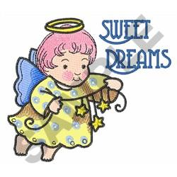 SWEET DREAMS ANGEL embroidery design