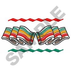 CHRISTMAS CANDY BORDER embroidery design