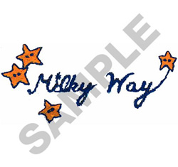 MILKY WAY embroidery design
