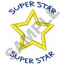 APPLIQUE SUPER STAR embroidery design